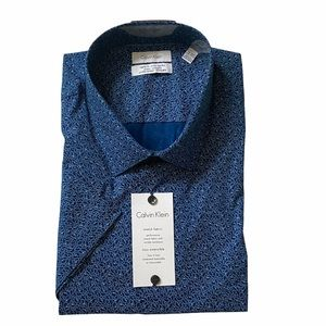 Calvin Klein Men's Regular Fit Dark Blue Shirt 2XL